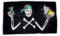 Fahne / Flagge Pirat Bier Party 90 x 150 cm