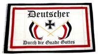 Fahne / Flagge Deutscher durch die Gnade Gottes 90 x 150 cm