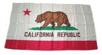 Fahne / Flagge USA - Kalifornien 30 x 45 cm