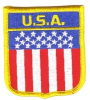 Wappen Aufnäher Fahne USA