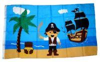 Fahne / Flagge Pirat Schiff 90 x 150 cm