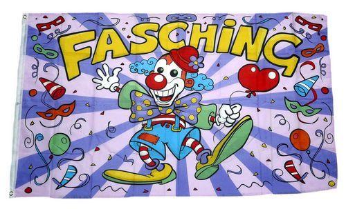 Flagge Fahne Fasching Karneval Clown 90 X 150 Cm Feste Anlasse