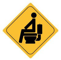 Aufkleber Sticker Achtung WC Toilette Autoaufkleber