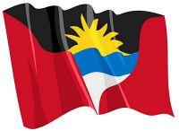 Fahnen Aufkleber Sticker Antigua & Barbuda wehend