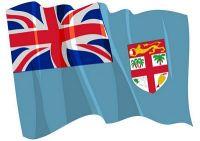 Fahnen Aufkleber Sticker Fidschi Inseln wehend