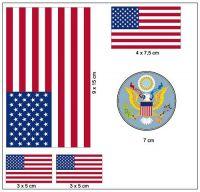 Fahnen Aufkleber Set USA