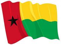 Fahnen Aufkleber Sticker Guinea Bissau wehend