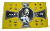 Flagge / Fahne Gott mit uns - Kaiser Wilhelm 1914 90 x 150 cm