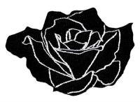 Aufnäher schwarze Rose 9 x 6 cm Aufbügler Patch
