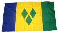 Flagge / Fahne St. Vincent & Grenadinen Hissflagge 90 x 150 cm