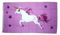 Fahne / Flagge Einhorn rosa 90 x 150 cm