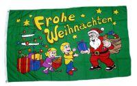 Fahne / Flagge Frohe Weihnachten Kinder 90 x 150 cm