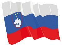 Fahnen Aufkleber Sticker Slowenien wehend