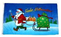 Fahne / Flagge Frohe Weihnachten Schlitten Stern 60 x 90 cm