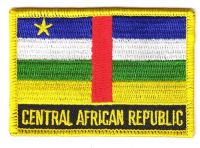 Fahnen Aufnäher Zentralafrikanische Republik Schrift