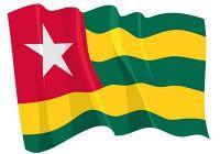 Fahnen Aufkleber Sticker Togo wehend