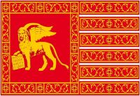 Fahnen Aufkleber Sticker Italien - Venedig Yachtflagge
