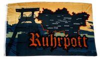 Fahne / Flagge Ruhrpott Karte 90 x 150 cm