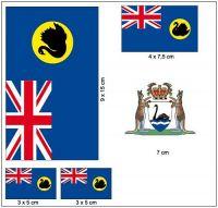 Fahnen Aufkleber Set Australien - West