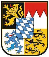 Wappenschild Aufkleber Sticker Freistaat Bayern