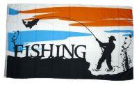 Fahne / Flagge Angler Fishing 90 x 150 cm