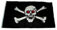 Fahne / Flagge Pirat rote Augen 90 x 150 cm