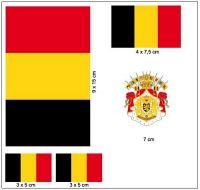 Fahnen Aufkleber Set Belgien