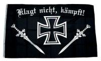 Fahne / Flagge Eisernes Kreuz Klagt nicht kämpft 90 x 150 cm