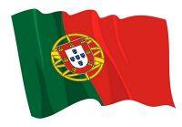 Fahnen Aufkleber Sticker Portugal wehend