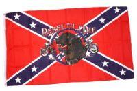 Fahne / Flagge Südstaaten - Rebell Till I Die 90 x 150 cm