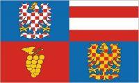 Fahne / Flagge Tschechien - Südmähren 90 x 150 cm