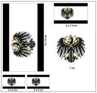 Fahnen Aufkleber Set Königreich Preußen