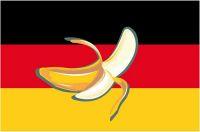 Fahnen Aufkleber Sticker Bananenrepublik Deutschland