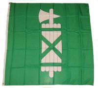 Fahne / Flagge Schweiz - St. Gallen 120 x 120 cm
