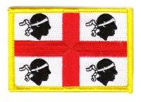 Fahnen Aufnäher Italien - Sardinien