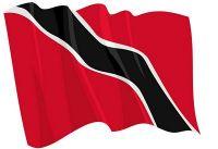 Fahnen Aufkleber Sticker Trinidad & Tobago wehend