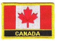 Fahnen Aufnäher Kanada Schrift