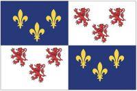 Fahnen Aufkleber Sticker Frankreich - Picardie