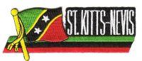 Fahnen Sidekick Aufnäher St. Kitts & Nevis