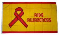 Fahne / Flagge Aids Awareness 90 x 150 cm