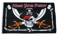 Fahne / Flagge Pirat Name your Poison 90 x 150 cm