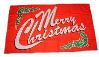 Fahne / Flagge Merry Christmas 30 x 45 cm