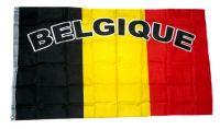 Fahne / Flagge Belgien Schrift NEU 90 x 150 cm