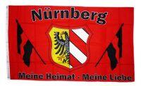 Fahne / Flagge Nürnberg Meine Liebe 90 x 150 cm