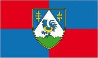 Fahne / Flagge Kroatien - Koprivnica Krizevci 90 x 150 cm