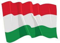 Fahnen Aufkleber Sticker Ungarn wehend