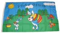 Fahne / Flagge Frohe Ostern Hase 60 x 90 cm