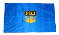 Fahne / Flagge DDR - FDJ 90 x 150 cm