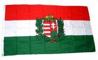 Flagge / Fahne Ungarn Wappen Hissflagge 90 x 150 cm