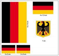 Fahnen Aufkleber Set Deutschland
